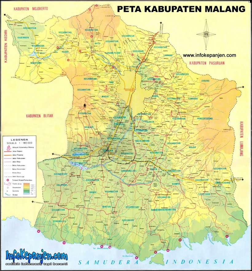 Peta Kabupaten Malang